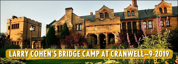 Larry Cohen's Bridge Camp - Cranwell Spa & Resort - September 2019